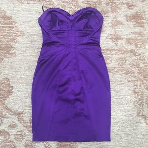 Dress with back zipper